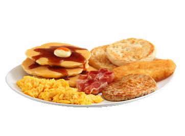 Com direito a pão, ovos e hambúrguer!