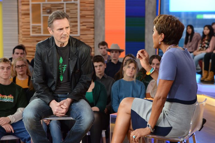 "Neeson sits down with Robin Roberts on ""Good Morning America"" to further explain himself."