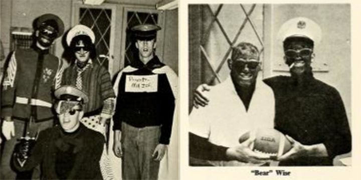 Two photos from VMI's 1968 yearbook, which was edited by the future state Sen. Tommy Norment.