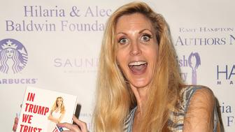 EAST HAMPTON, NY - AUGUST 12:  Ann Coulter attends Author's Night 2017 to benefit the East Hampton Library  on August 12, 2017 in East Hampton, New York.  (Photo by Sonia Moskowitz/WireImage)