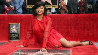 Actress Taraji P. Henson poses during a ceremony honoring her with a star on the Hollywood Walk of Fame on Monday, Jan. 28, 2019, in Los Angeles. (Photo by Willy Sanjuan/Invision/AP)