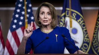 U.S. House Speaker Nancy Pelosi, a Democrat from California, speaks during a news conference on Capitol Hill in Washington, D.C., U.S., on Thursday, Feb. 7, 2019. Pelosi told reporters that House Democrats plan to mark up legislation that will address 'the proliferation of guns' in the U.S. and was disappointed President Trump didn't mention the issue in his State of the Union address this week. Photographer: Al Drago/Bloomberg via Getty Images