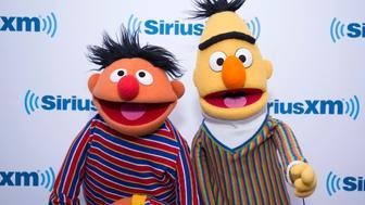NEW YORK, NY - NOVEMBER 09:  Bert and Ernie visit SiriusXM Studios on November 9, 2017 in New York City.  (Photo by Santiago Felipe/Getty Images)