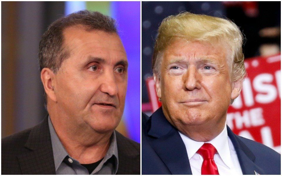 Pete Souza and Donald Trump