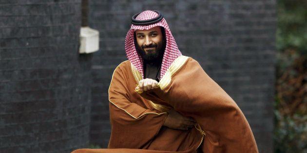 Mohammed ben Salmane, le prince héritier d'Arabie saoudite, lors d'une visite officielle à...