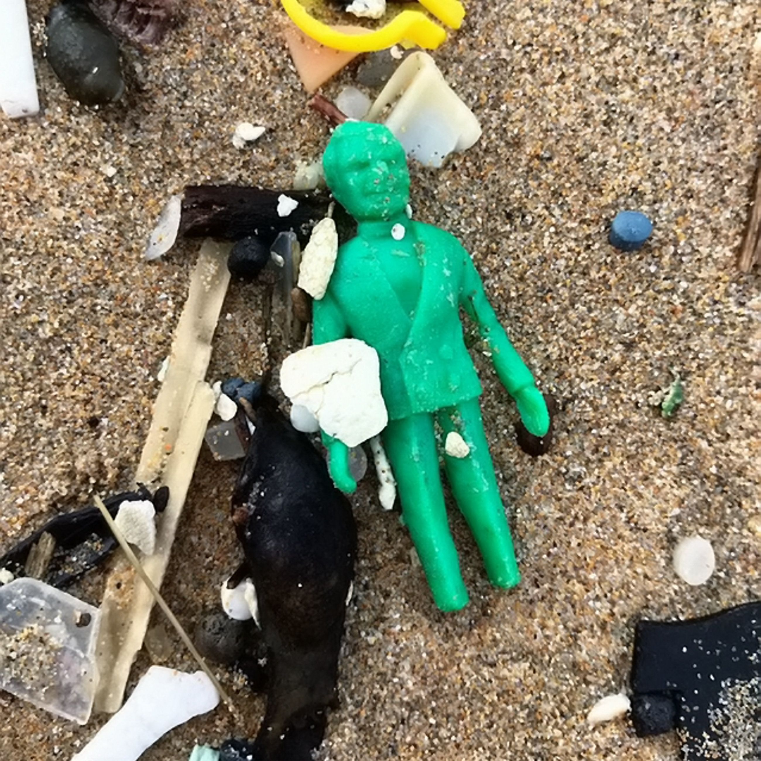 This Plastic Thunderbirds Toy Washed Up On A Cornish Beach – Intact After 50