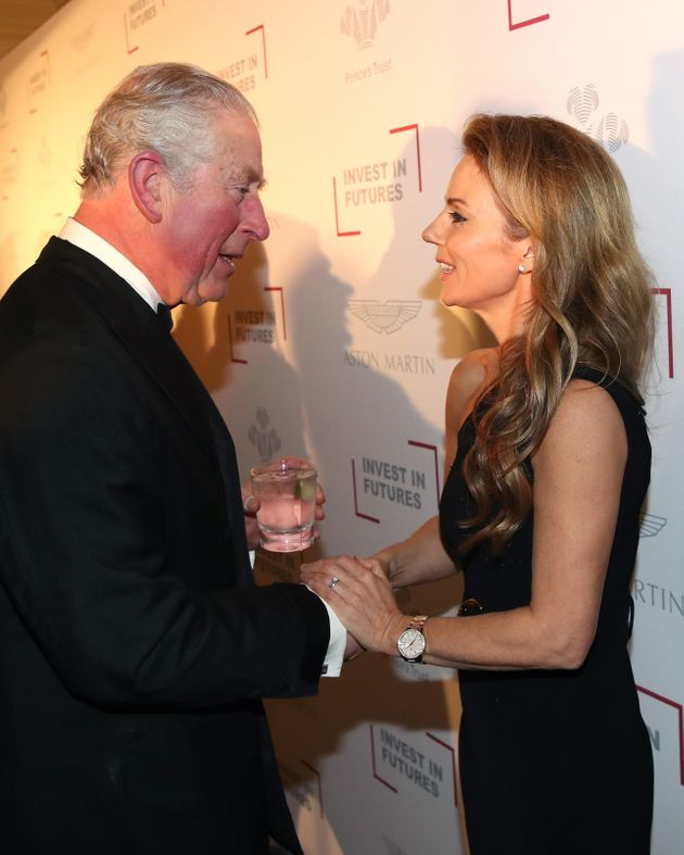 Prince Charles and Geri Horner at the Prince's Trust