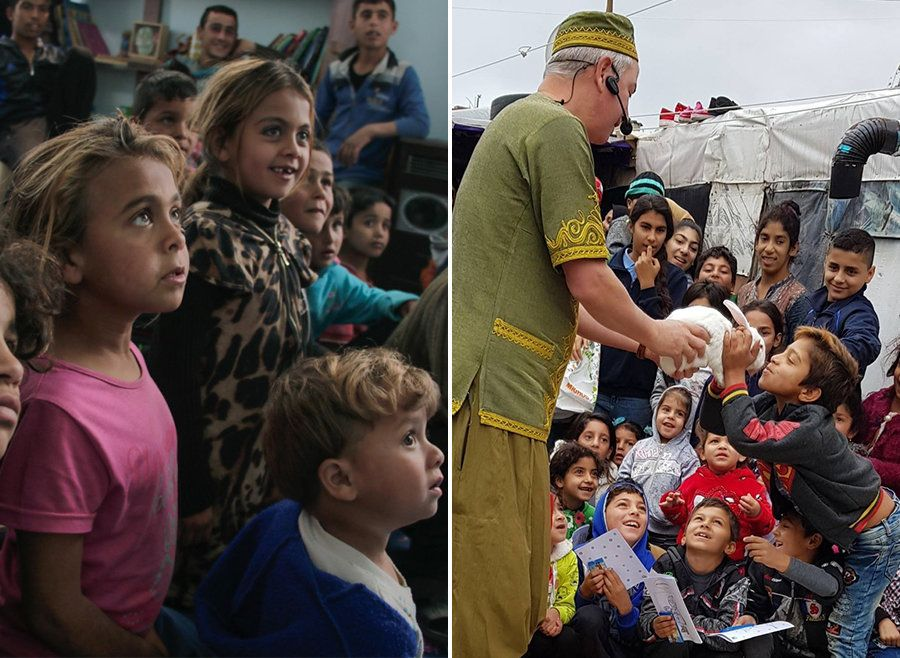 I Gave Up My Traditional Aid Career To Bring Joy To Refugee Children Through