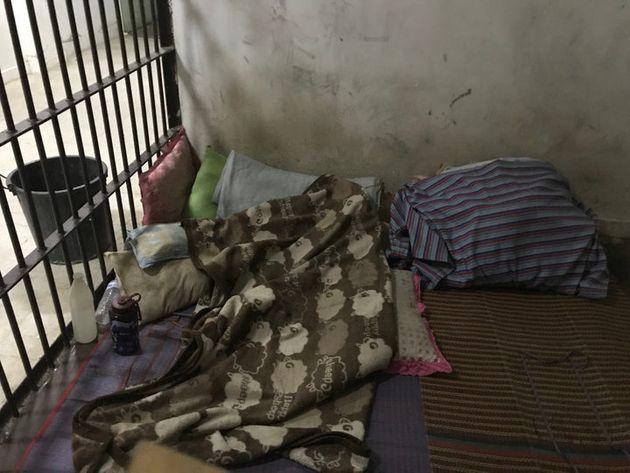 Die Zelle der Polizeiwache in Pai, in der Semrau für fünf Tage festgehalten wurde, bevor sie...