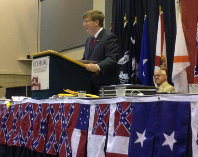 Mississippi Lt. Gov. Tate Reeves (R) spoke at a Sons of Confederate Veterans event in