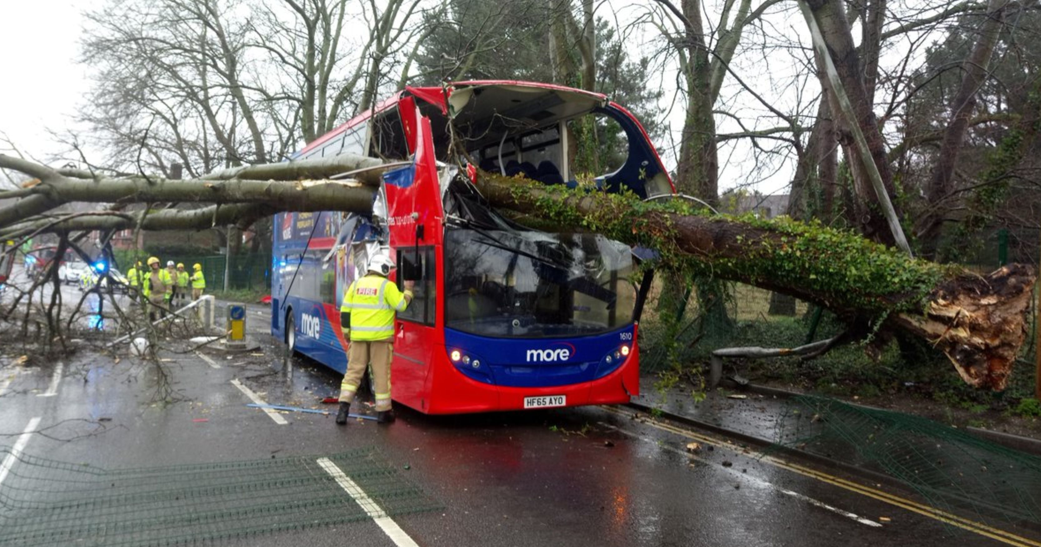 Storm Erik hits Oldham bringing strong winds and heavy rain