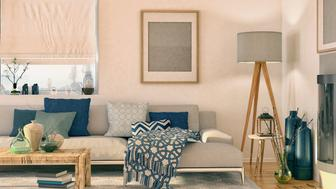 Picture of nordic living room. Render image.