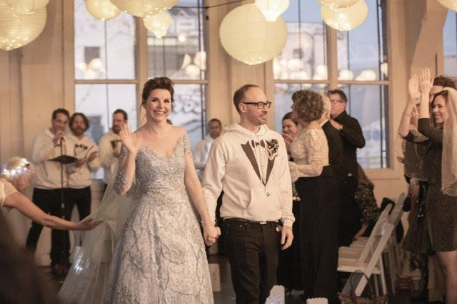 2b631cffe6ff Actress Audrey Moore and writer Jesse Lumen at their beautifully  unconventional wedding.