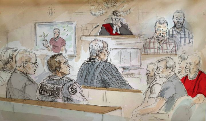 A court sketch of Bruce McArthur, who admitted to killing a series of men and burying their body parts around Toronto.