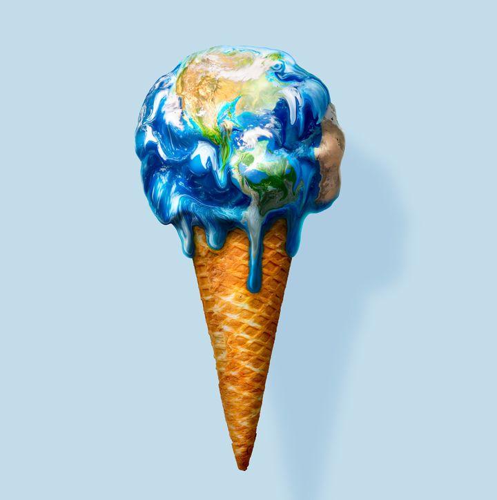 Derretimento das geleiras é uma das causas do efeito estufa, que também está relacionado à nossa alimentação.