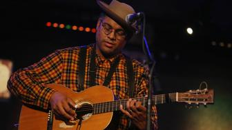 NEW YORK, NY - OCTOBER 19:  Dom Flemons performs as part of Wesley Stace's Cabinet of Wonders at City Winery on October 19, 2018 in New York City.  (Photo by Al Pereira/Getty Images)
