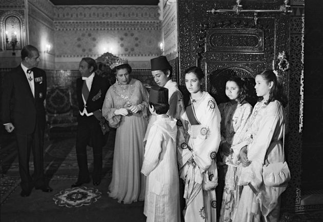 La reine Elisabeth II lors de son voyage au Maroc, le 30 octobre