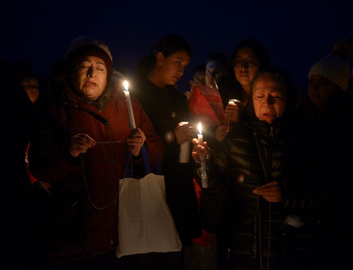 Community members gathered to honor Reyes at a vigil on Thursday.