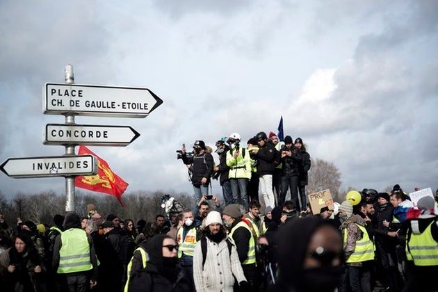 Bloody Scenes As Yellow Vest Anti-Government Protests Turn Violent In