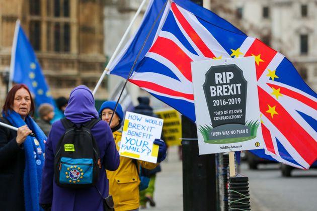 Brexit-Gegner in
