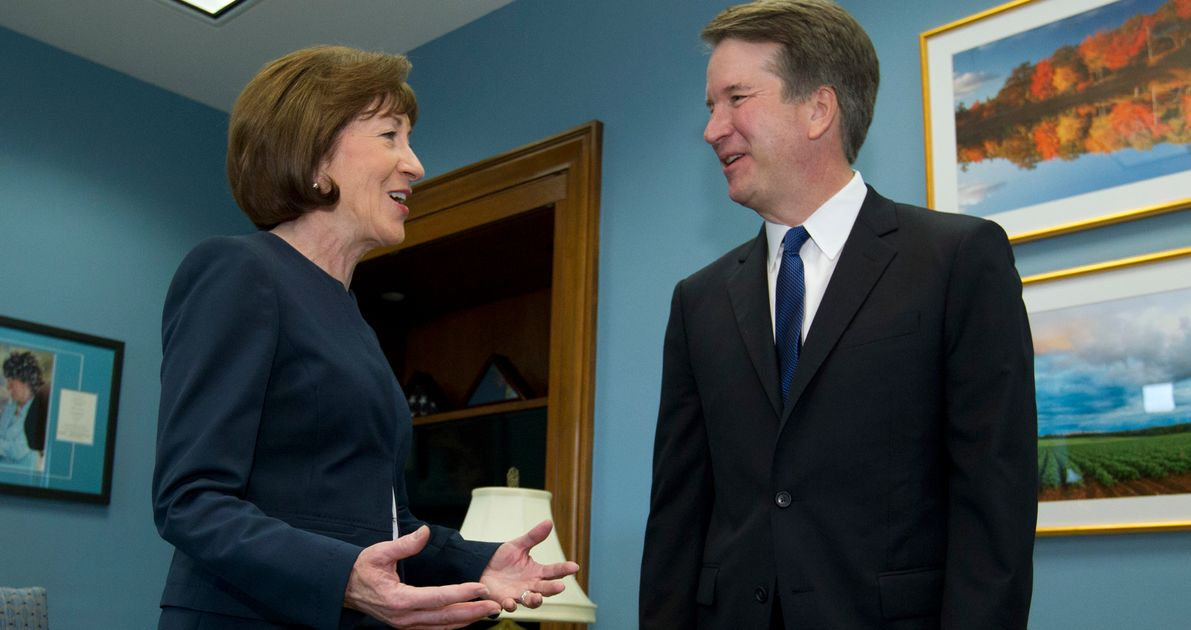 Democrats Come For Susan Collins After Brett Kavanaugh Backs Anti-Abortion Law thumbnail