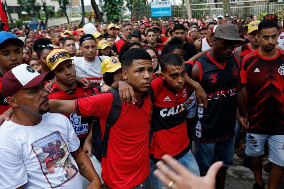 As imagens da homenagem da torcida do Flamengo aos 'garotos do