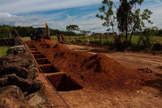 A barragem da Vale na mina Córrego do Feijão, em Brumadinho, se rompeu no dia 25 de