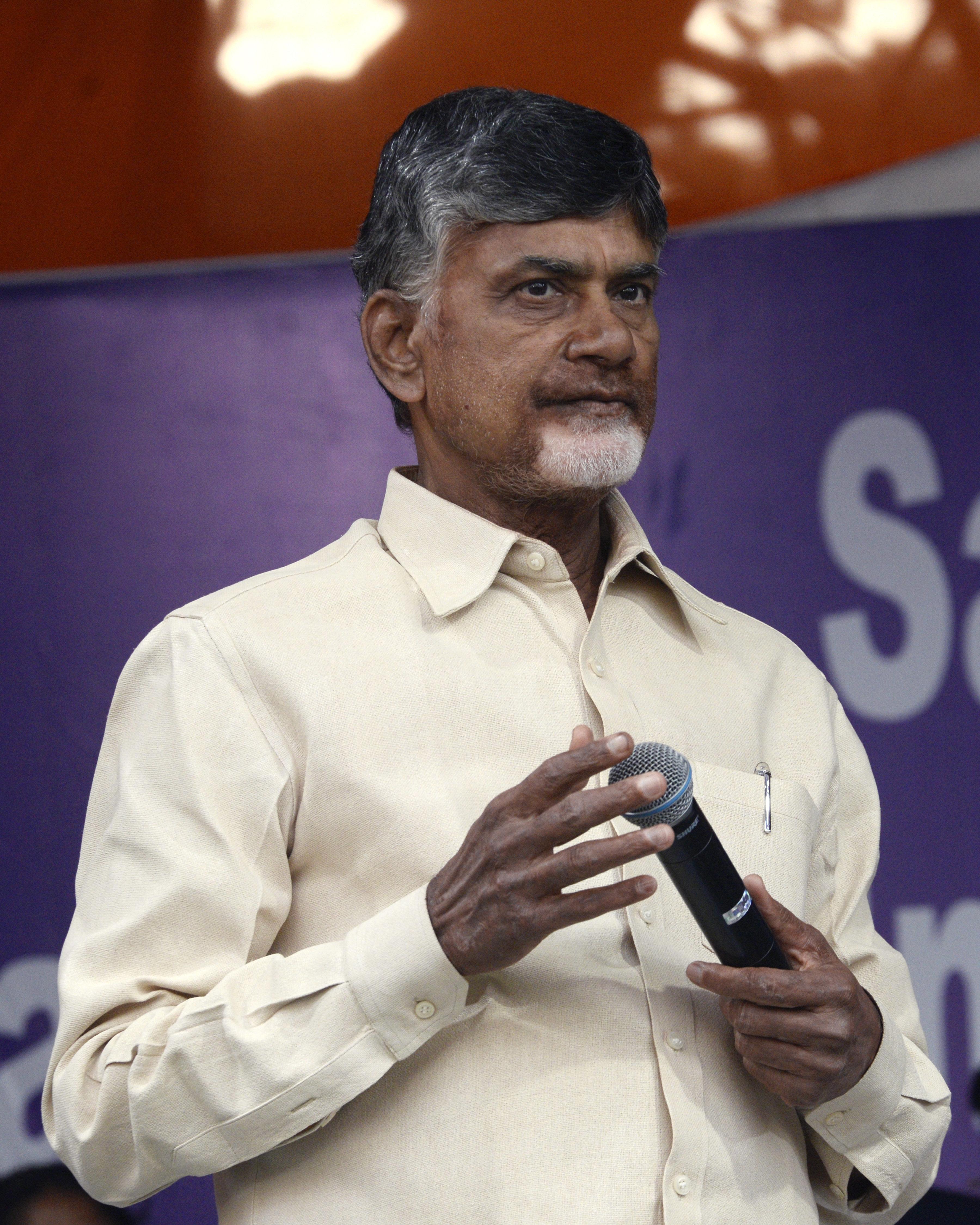 Chandrababu Naidu Begins Hunger Strike Demanding Special Status For Andhra