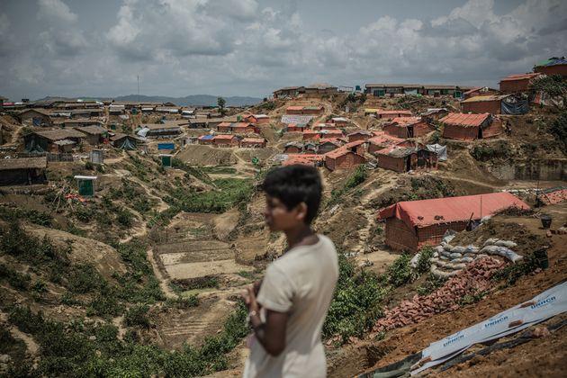 콕스 바자르에 위치한 쿠투팔롱 난민 캠프의 모습