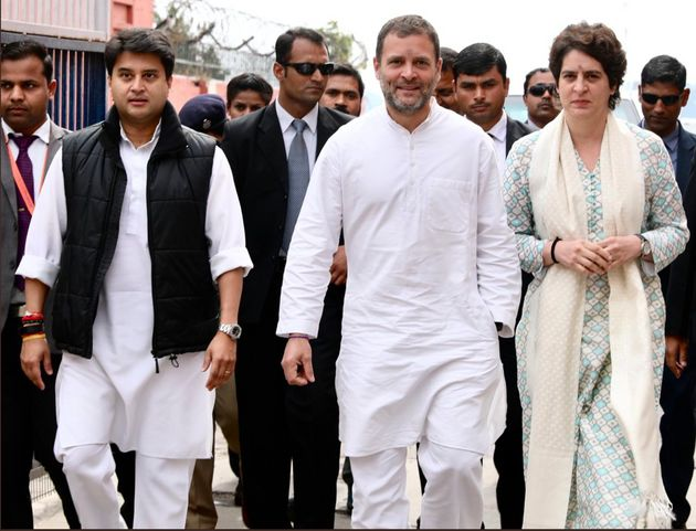 Priyanka, Rahul And Jyotiraditya Begin Congress Road Show In