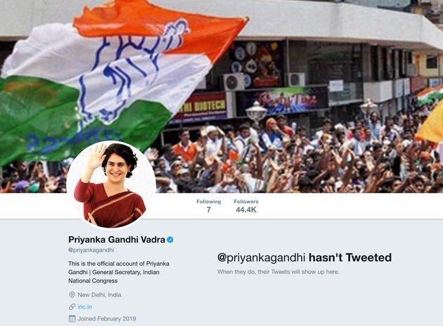 Priyanka Gandhi Makes Twitter Debut Ahead Of Lucknow Road