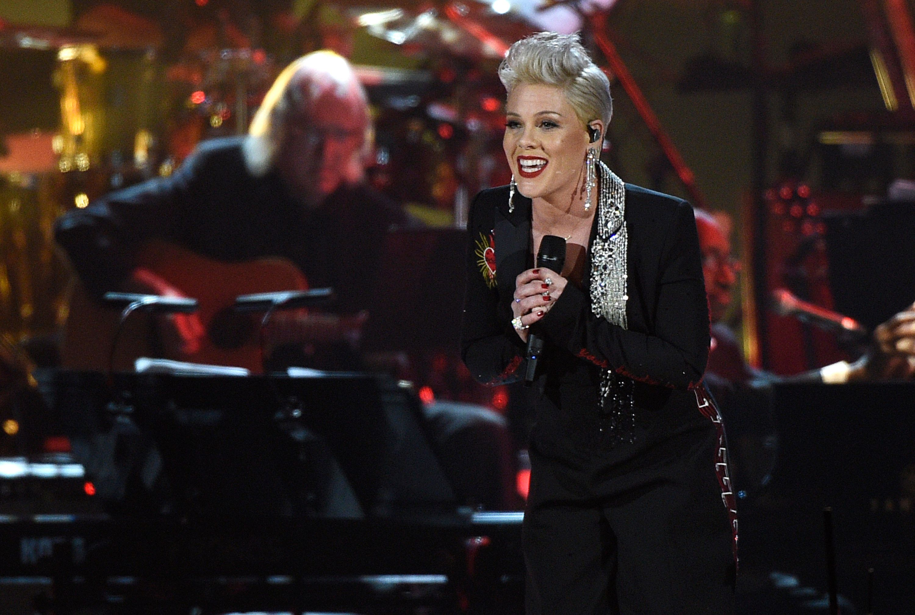 'My Favourite Kind Of Award': Pink Gets Homemade Grammys Trophy From Kids After Losing Out To