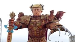 Massive And Terrifying 'God Emperor Trump' Presides Over Parade In