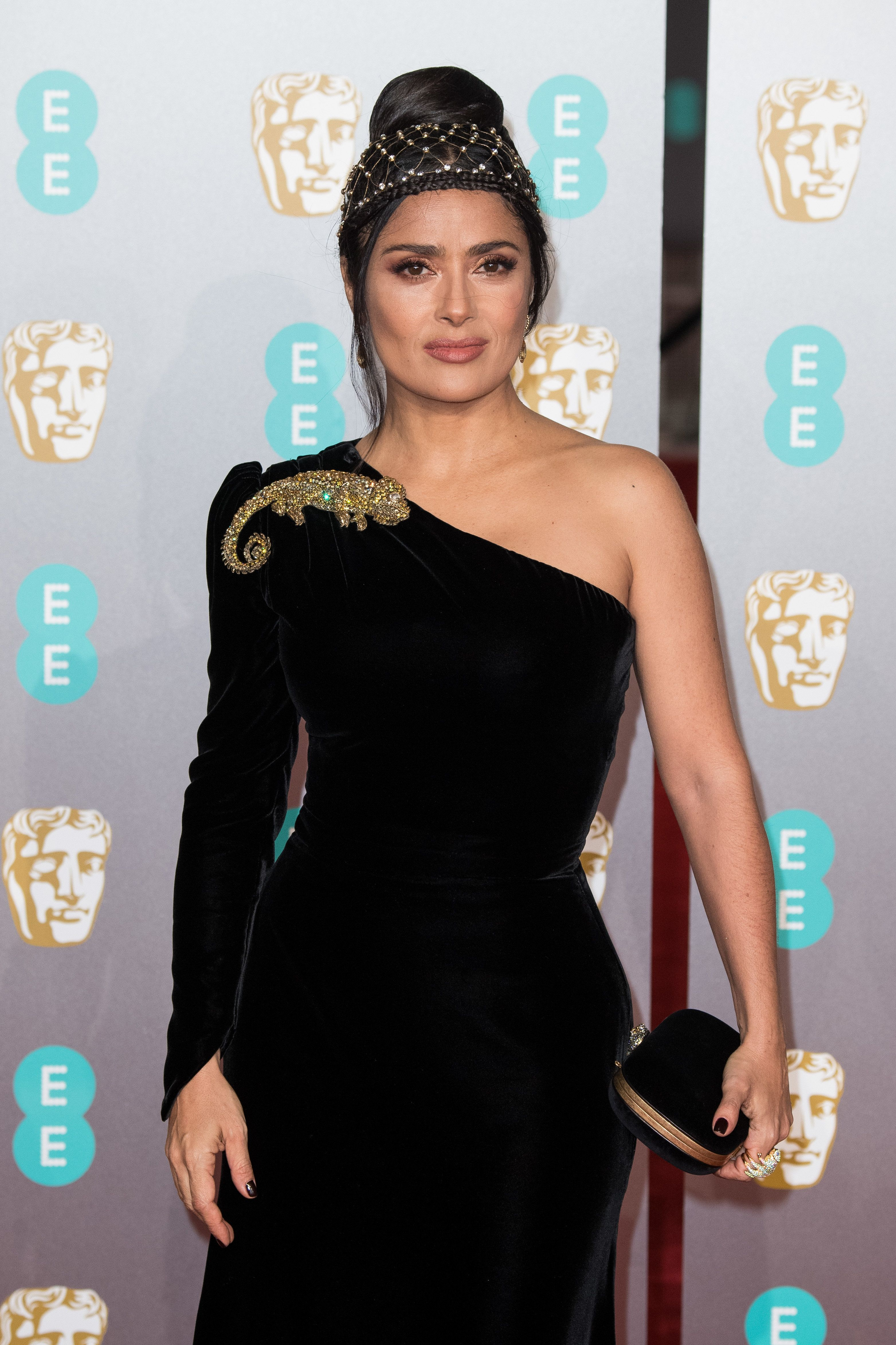 Salma Hayek's Lizard Brooch Caught Our Eye At The BAFTAs, Here's How To Shop The