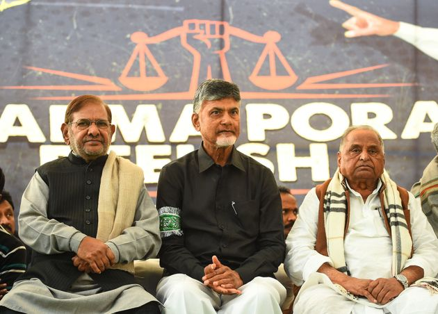 Chandrababu Naidu's Day-Long Fast Turns Into Show Of Opposition