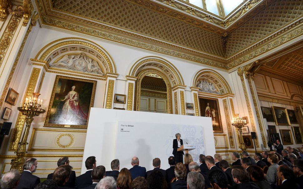 May delivers her Lancaster House speech in January