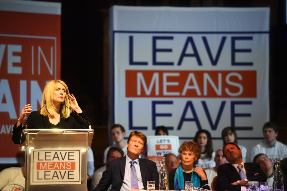 Former work and pensions secretary Esther McVey at a 'Leave Means Leave'