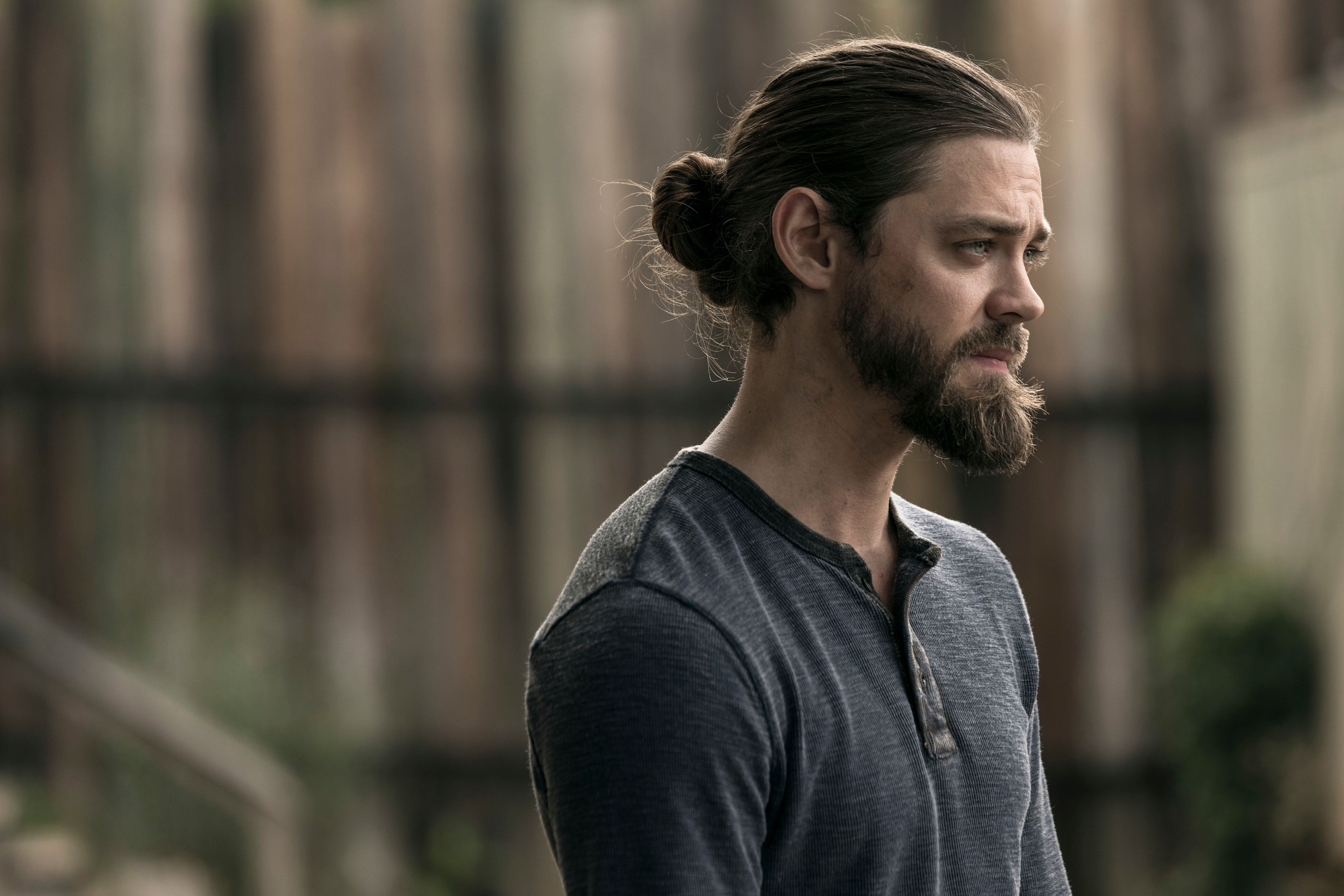 "Tom Payne, aka Jesus on ""The Walking Dead."""