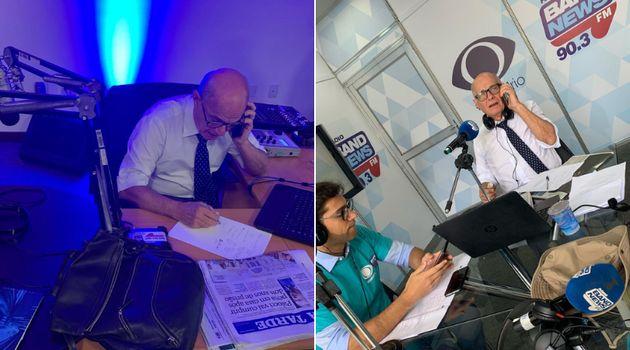 Nos estúdios da BandNews FM, Boechat não parava nem um minuto — seja para comentar,...