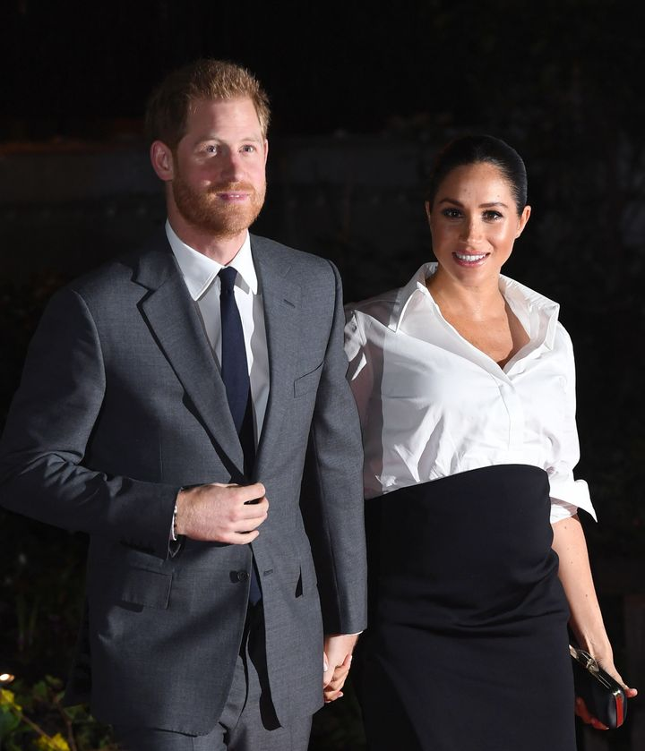 The Duke and Duchess of Sussex arriving at the Endeavour Fund Awards at Drapers Hall, London.