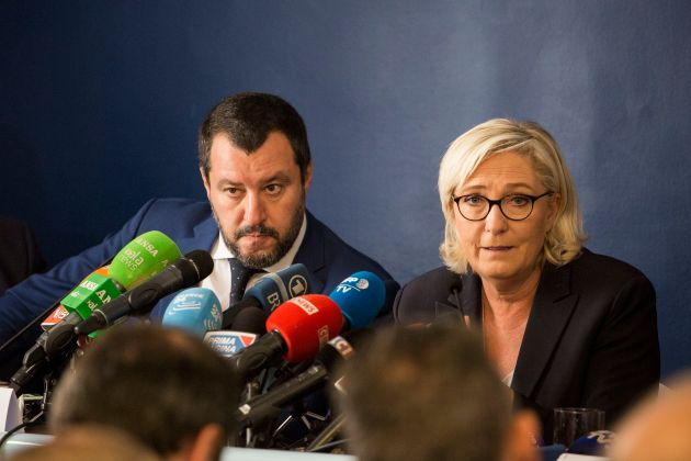 Lega Nord's Matteo Salvini and Front Nationale's Marine le Pen. The pair lead parties which are poised...
