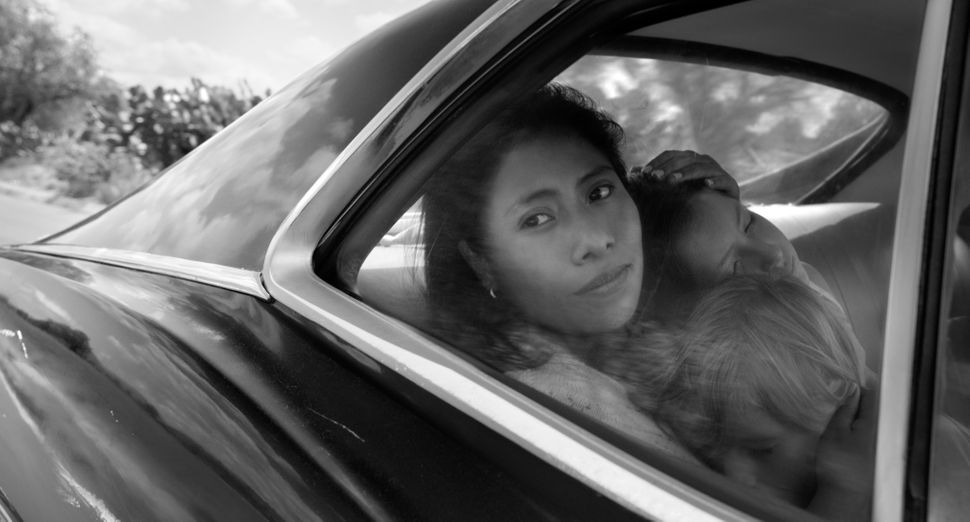"""Roma"" is up for four technical Oscars: Best Production Design, Best Cinematography, Best Sound Mixing and Best Sound Editing"