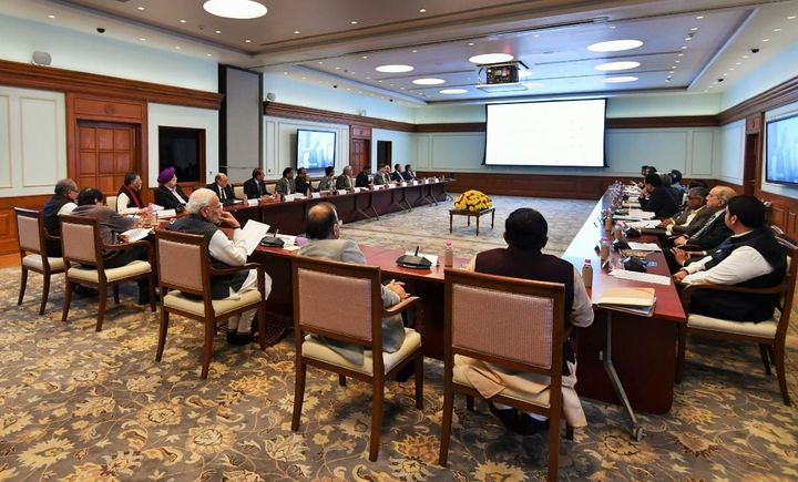 Modi held a review meeting about Ease of Doing Business with top cabinet ministers and officials on December 13, 2018 in the PMO.