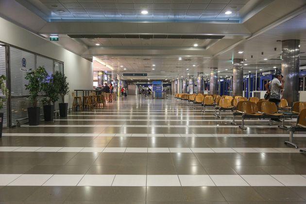 Εικόνα από το ανακαινισμένο αεροδρόμιο της Θεσσαλονίκης.
