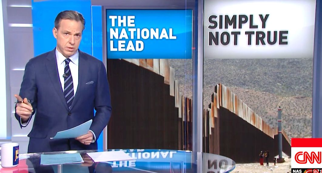 Jake Tapper Debunks 'Lying' Trump's El Paso Border Wall Claims