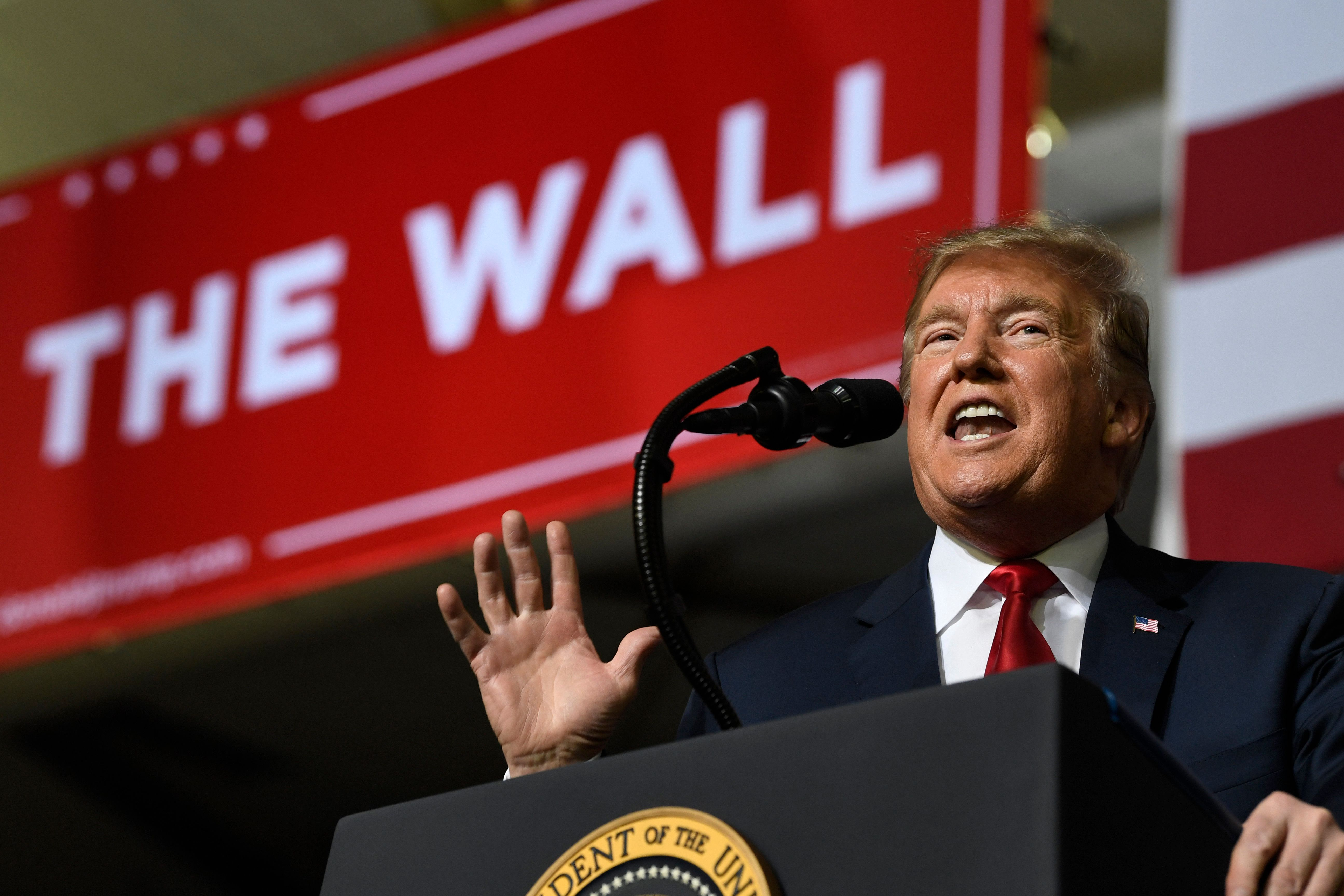 Trump Doubles Down On Border Security At Rally: 'Walls Save