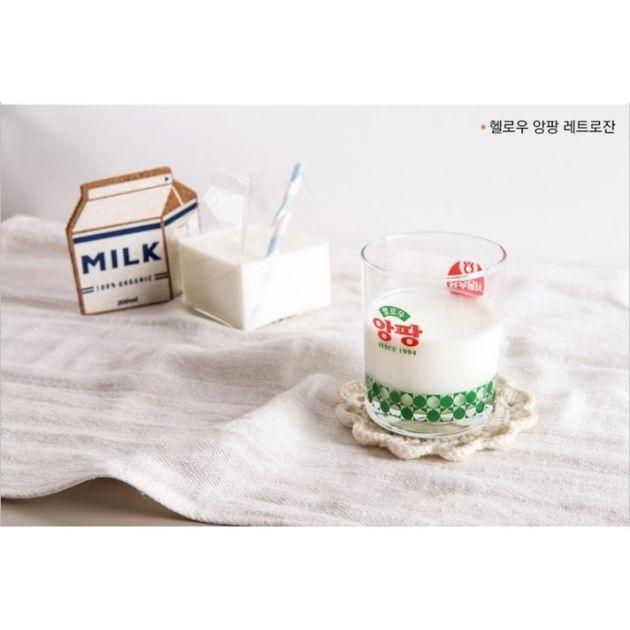 서울우유가 '레트로 감성' 담은 유리컵을