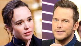 """Actress and activist Ellen Page is calling out fellow celebrity Chris Prattfor attending an """"infamously"""" anti-LGBTQ church"""