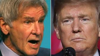Harrison Ford and Donald Trump