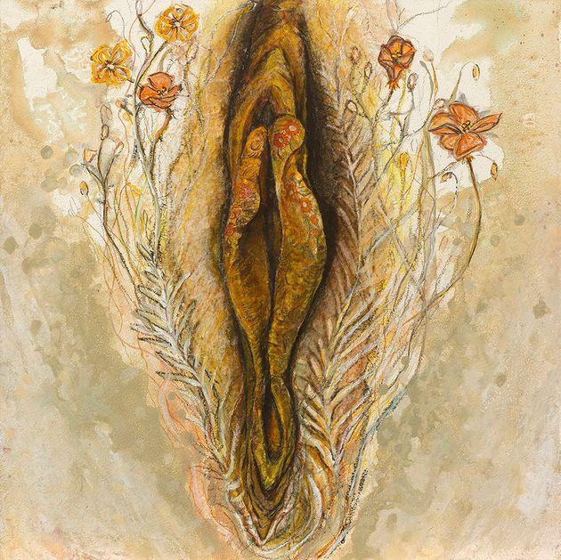 '완벽한 외모'의 압박에 시달리던 아티스트는 여성 성기 그림을